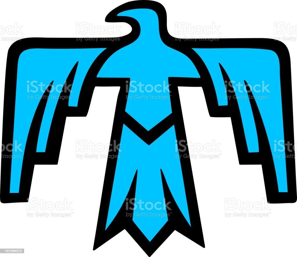 Sacred Thunderbird - Native American Symbol vector art illustration