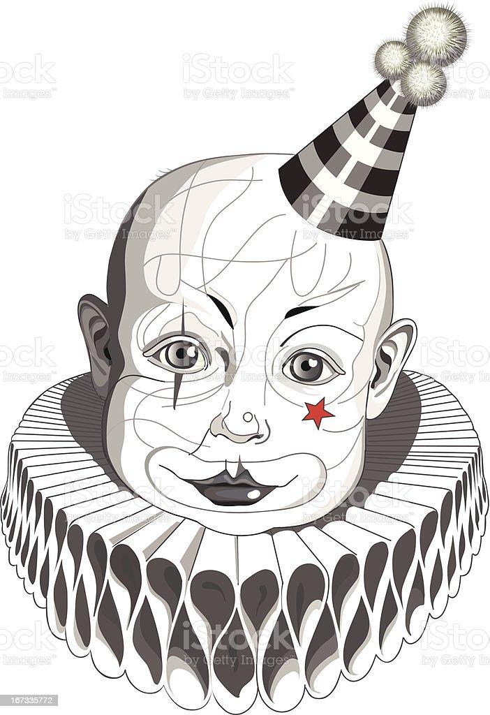 Sad Baby Clown royalty-free stock vector art