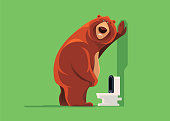 sad bear with urinary problem