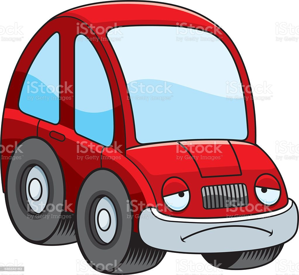 sad cartoon car stock vector art 535333163 istock