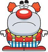 Sad Cartoon Clown