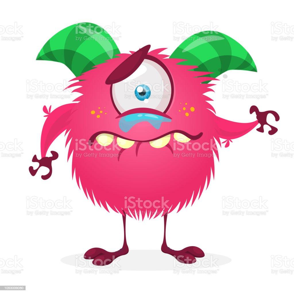 Sad cartoon monster crying royalty free sad cartoon monster crying stock vector art