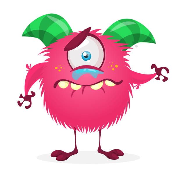 Traurig Cartoon Monster Weinen – Vektorgrafik