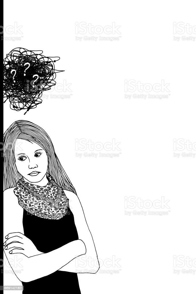 Sad, depressed woman royalty-free sad depressed woman stock vector art & more images of adult