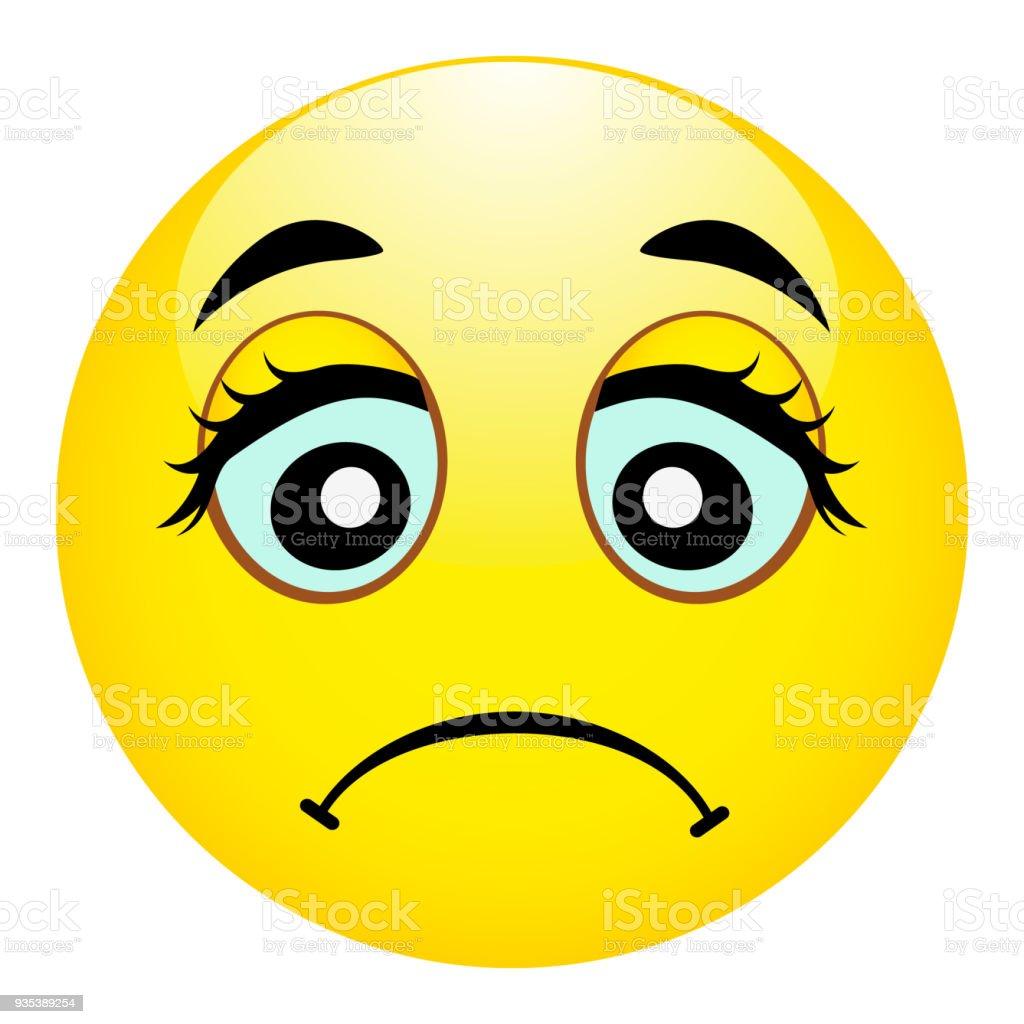 Ilustracion De Emoji Triste Emociones Mal Lastima El Emoticon Icono De Sonrisa De Ilustracion Vectorial Y Mas Vectores Libres De Derechos De Boca Istock