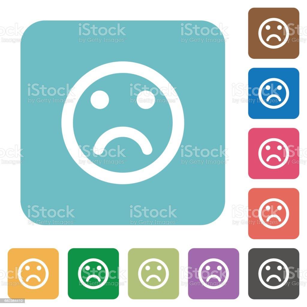 Sad emoticon flat icons sad emoticon flat icons - immagini vettoriali stock e altre immagini di angolo - descrizione royalty-free