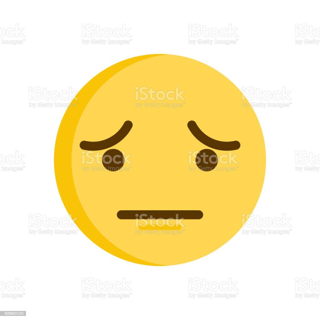 Sad Emoticon Vector Smiley Emoji Icon Stock Vector Art More Images