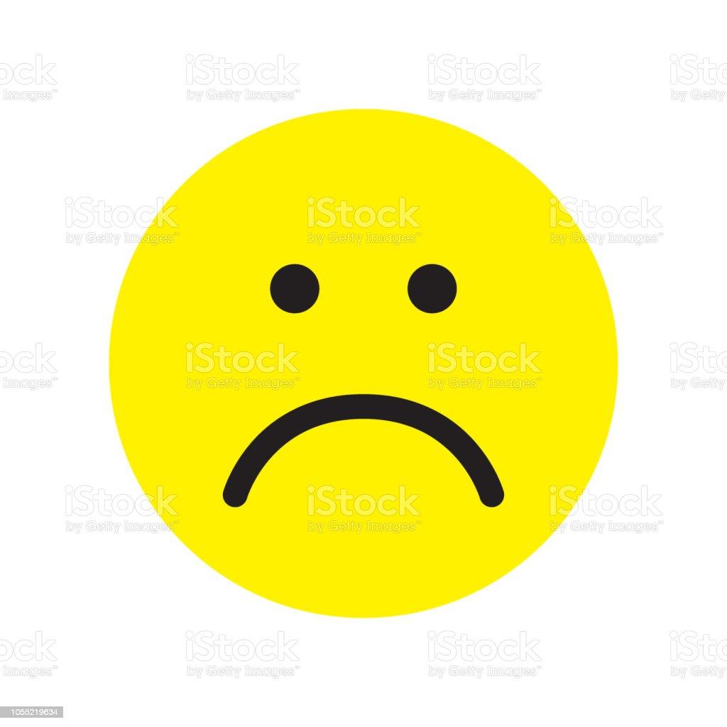 Sad face icon. Unhappy face symbol. royalty-free sad face icon unhappy face