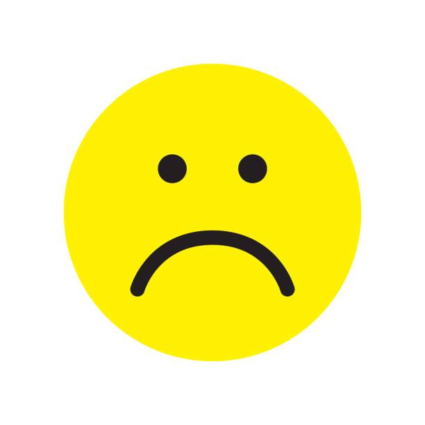 ilustrações de stock, clip art, desenhos animados e ícones de sad face icon. unhappy face symbol. - unfortunate