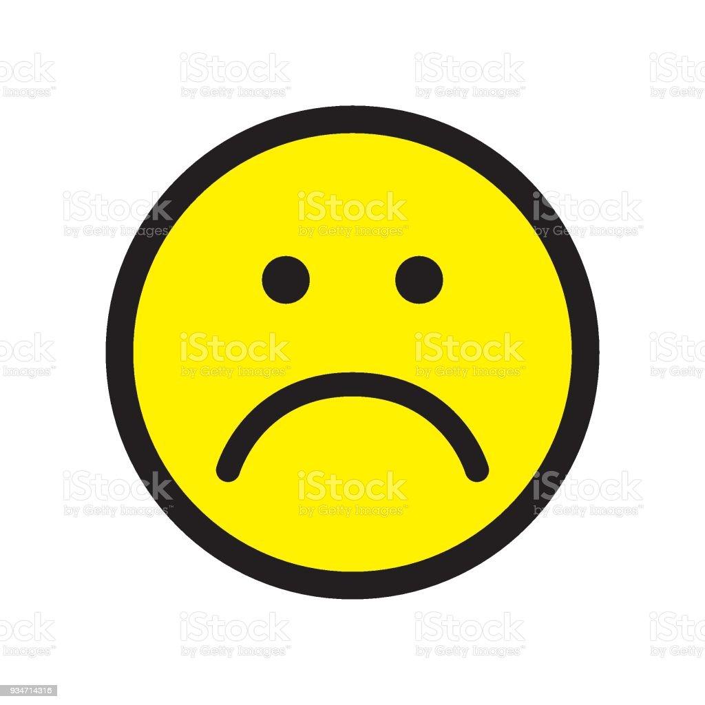 Sad Face Icon Unhappy Face Symbol Stock Vector Art More Images Of