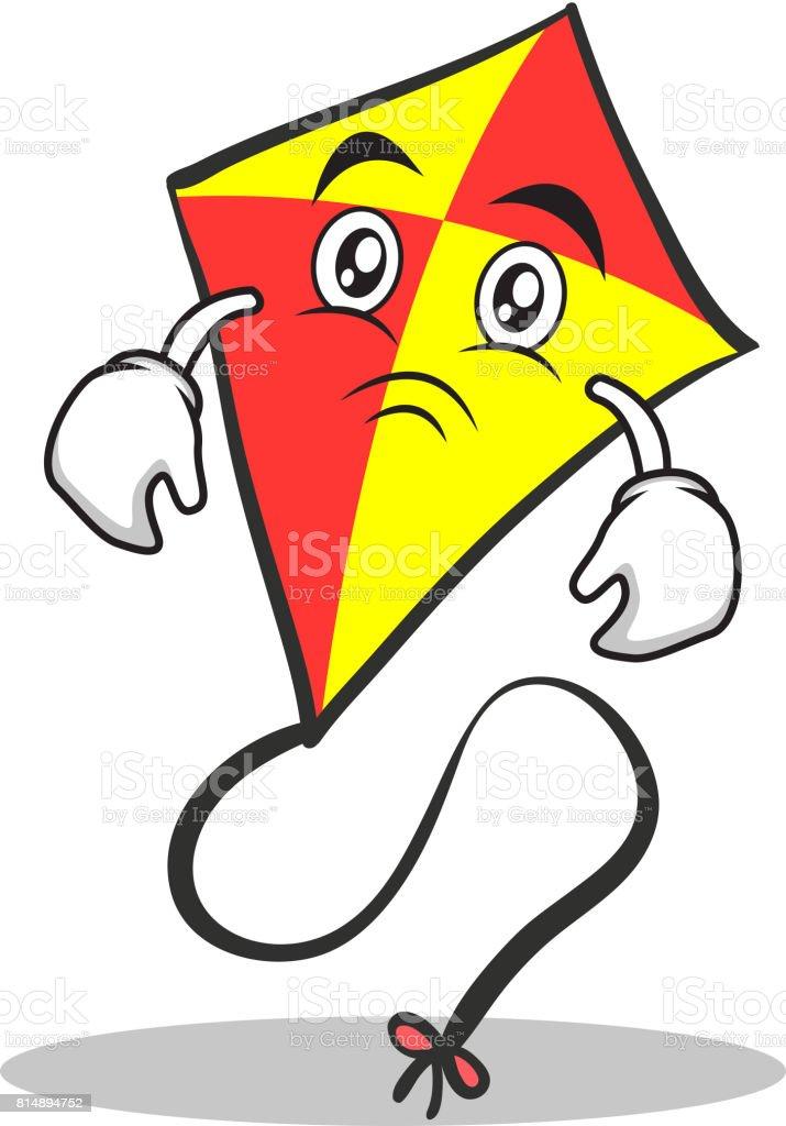Ilustración De Ilustración De Vector De Cara Triste Cometa Roja