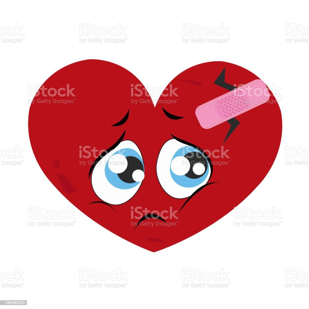 Sad Face Sad Heart Face Crying Face Lonely Valentines Day Romantic Greeting Card Stock Illustration Download Image Now Istock