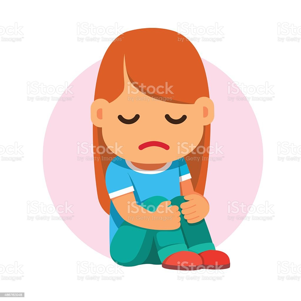 royalty free sad girl clip art vector images illustrations istock rh istockphoto com sad girl clipart free sad boy girl clipart