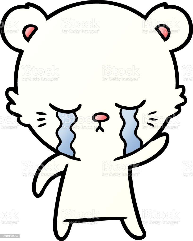 Vetores De Desenho De Urso Polar Pequeno Triste E Mais Imagens De
