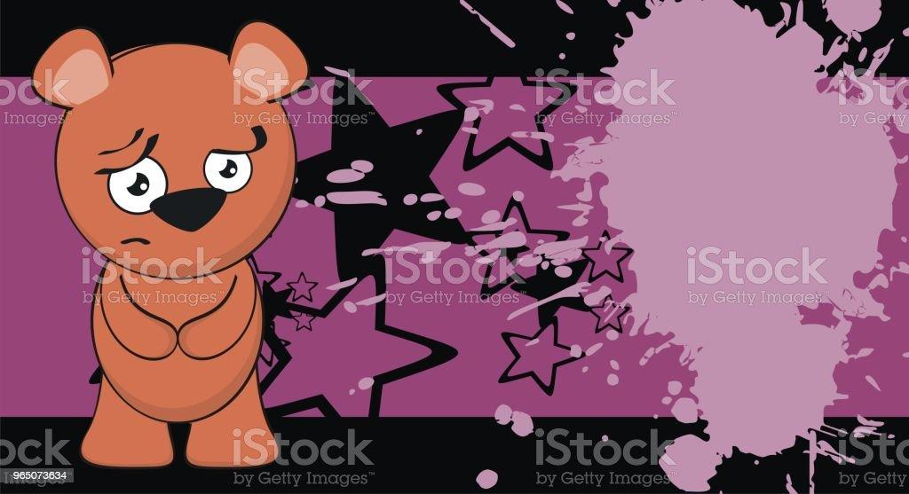 sad little teddy bear cartoon background sad little teddy bear cartoon background - stockowe grafiki wektorowe i więcej obrazów ameryka Łacińska royalty-free