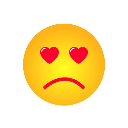 Download Ilustración de Vector De Emoji De Amor Triste y más ...