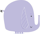 Cool elephant illustration.