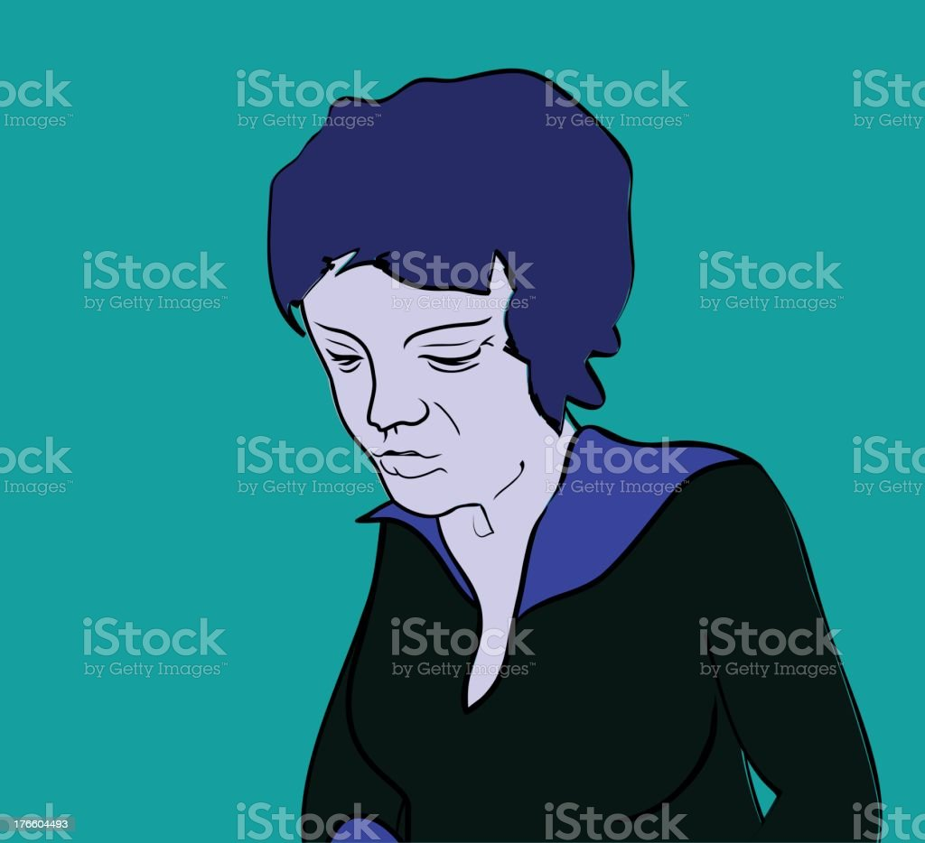 sad older woman royalty-free sad older woman stock vector art & more images of adult