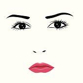 Sad or angry young woman vector illustration