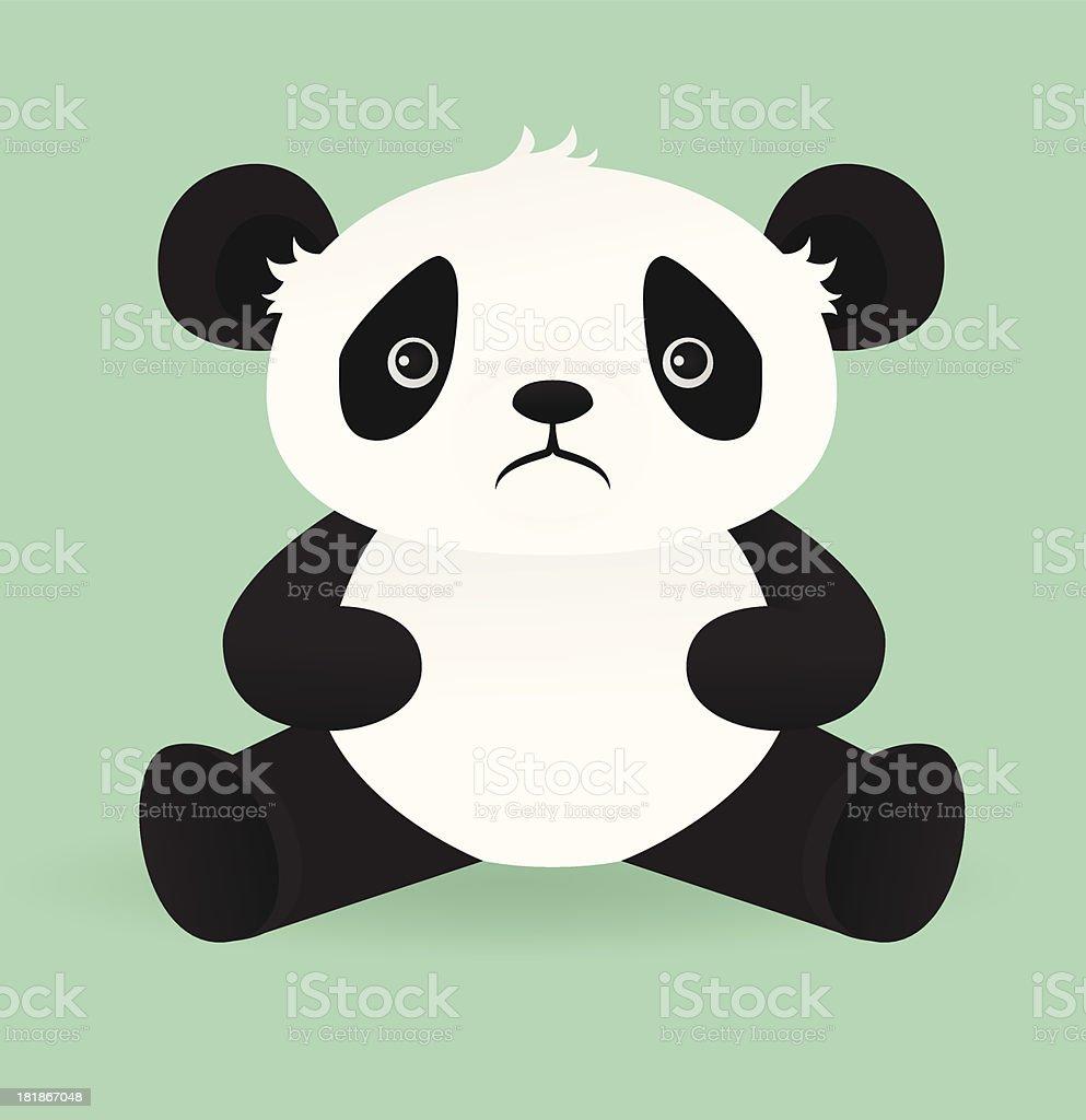 Sad Panda vector art illustration
