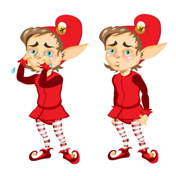 Best Sad Elf Illustrations, Royalty-Free Vector Graphics ...