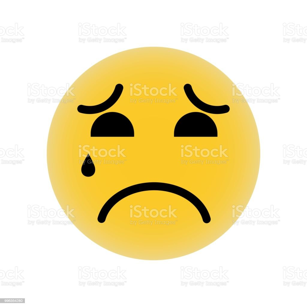 Sad Suffering Crying Emoticon Face Icon Vector Icon Simple Element