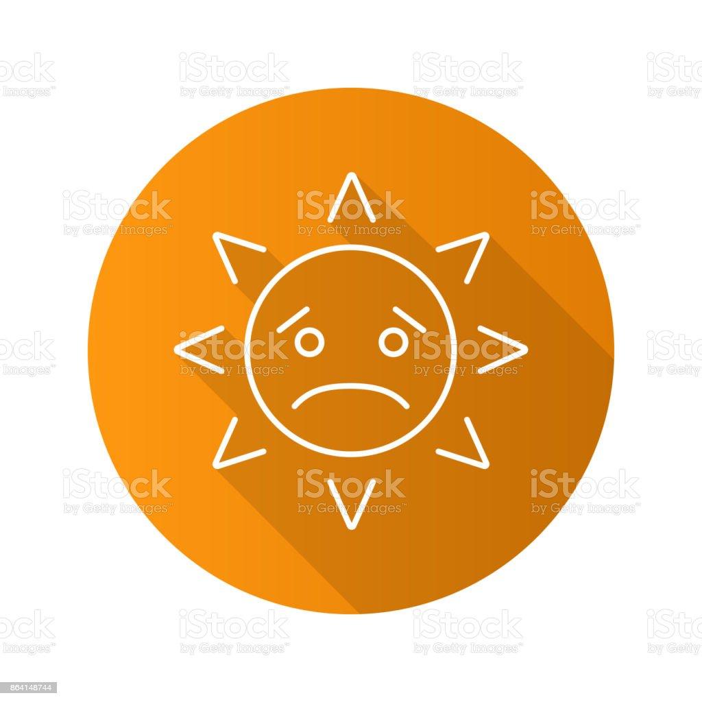 Sad sun smile icon royalty-free sad sun smile icon stock vector art & more images of depression - sadness