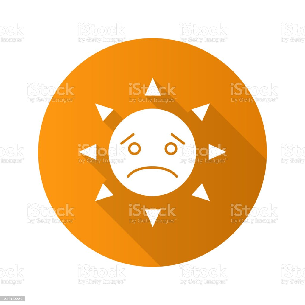 Sad sun smile icon royalty-free sad sun smile icon stock vector art & more images of displeased