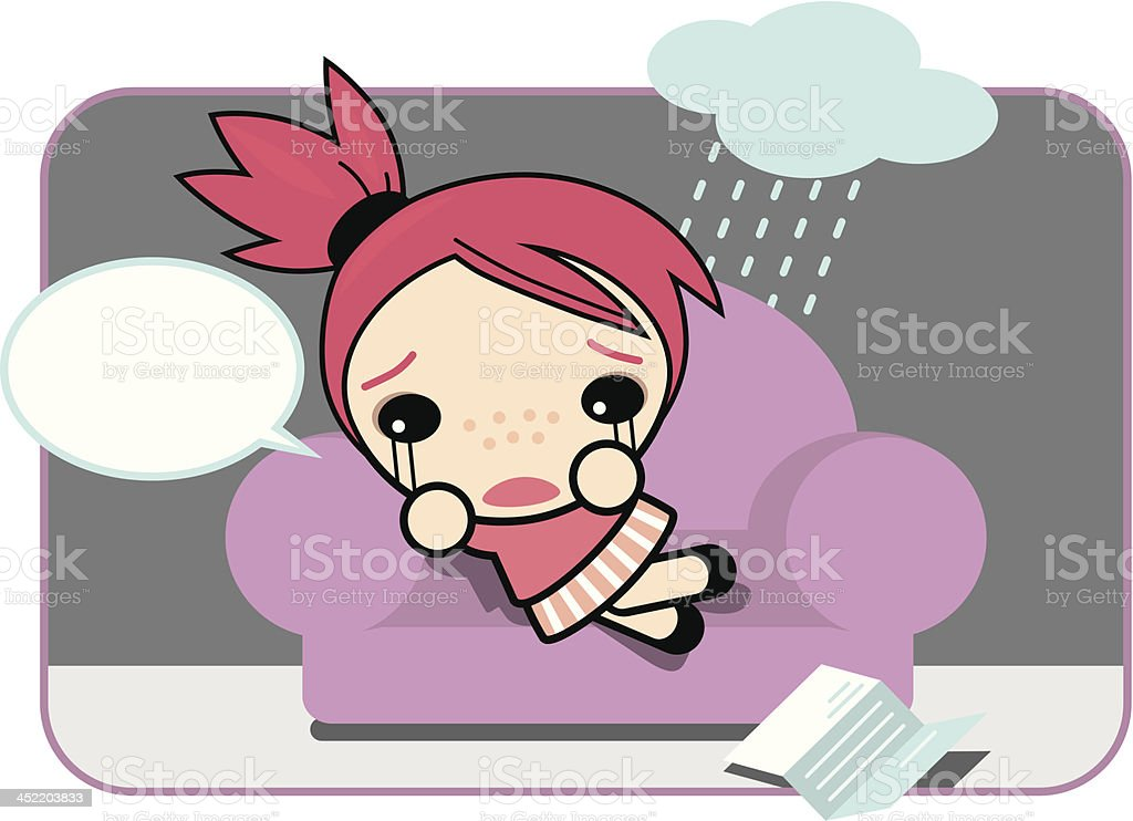 Sad Susi royalty-free stock vector art