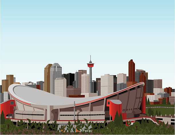 Best Calgary Skyline Illustrations Royalty Free Vector