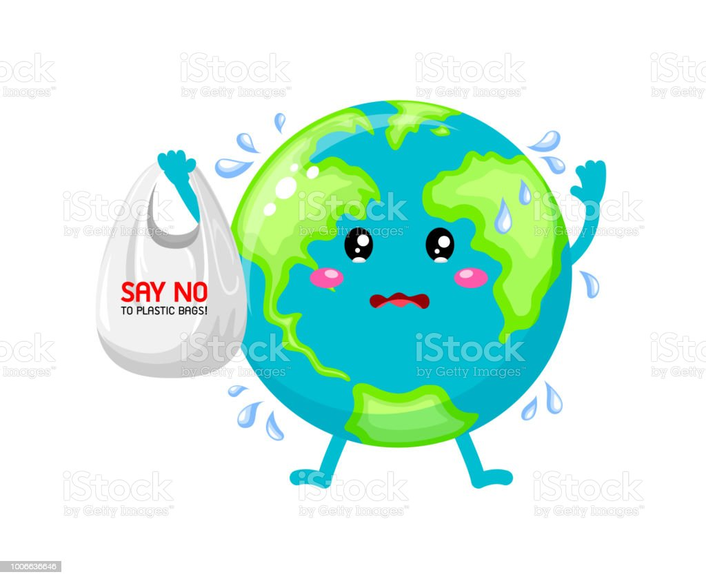 Ilustración De Tristeza De Dibujos Animados Mundo Carácter Holding