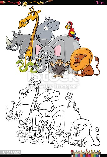 istock conjunto de dibujos animados animales mamíferos 682311562 ...
