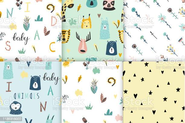 Safari baby animals seamless funny patterns collection vector id1135315022?b=1&k=6&m=1135315022&s=612x612&h=azdah lvn8va0khtblrchtxigi3ft61gxsv671zsgvs=