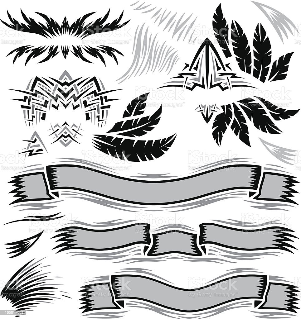 Safari Design Elements vector art illustration