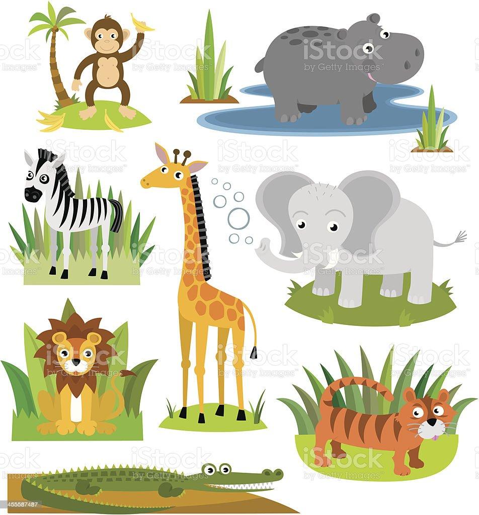 Safari Friends royalty-free stock vector art