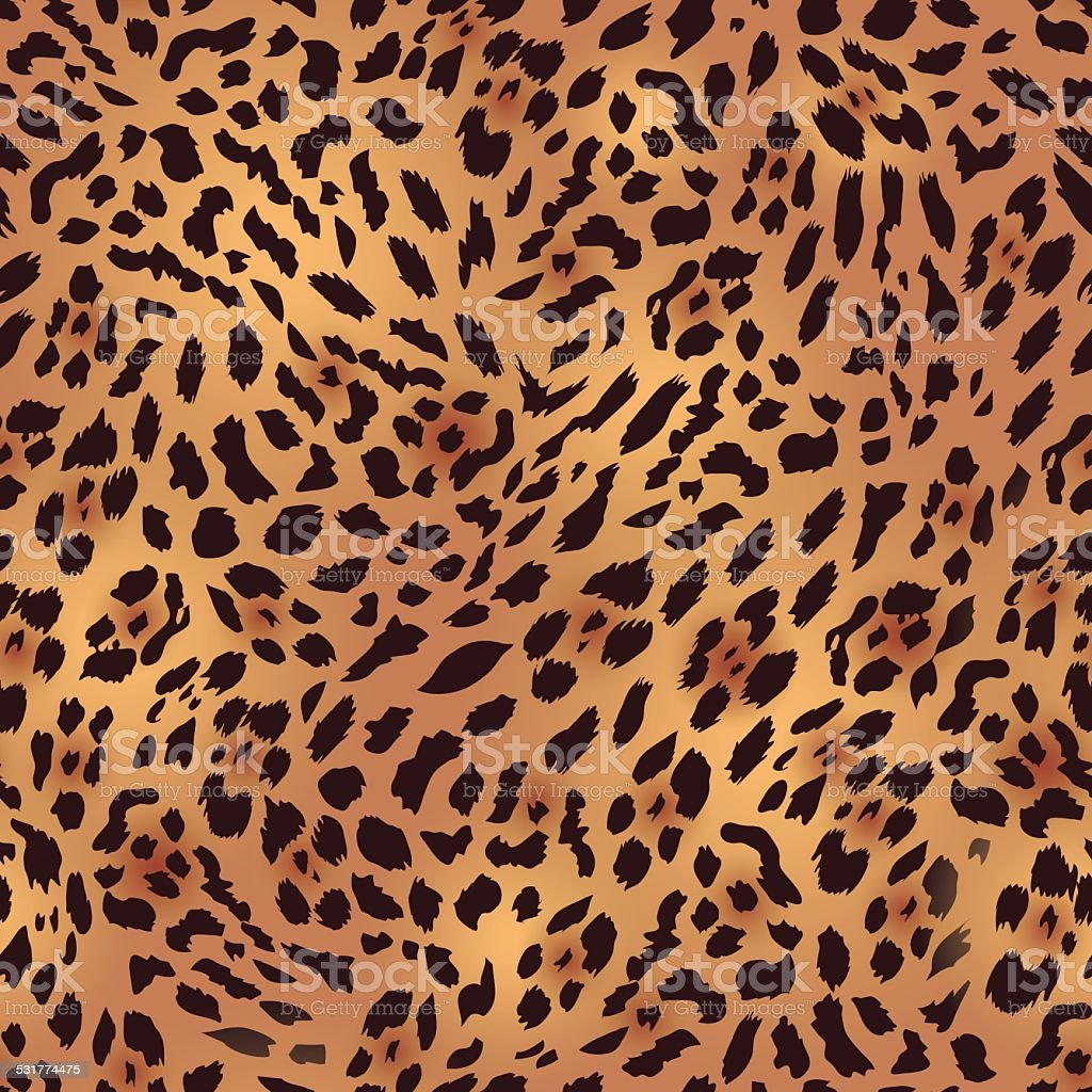 Safari en fourrure léopard sans couture vecteur impression - Illustration vectorielle