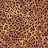 Safari leopard fur seamless vector print