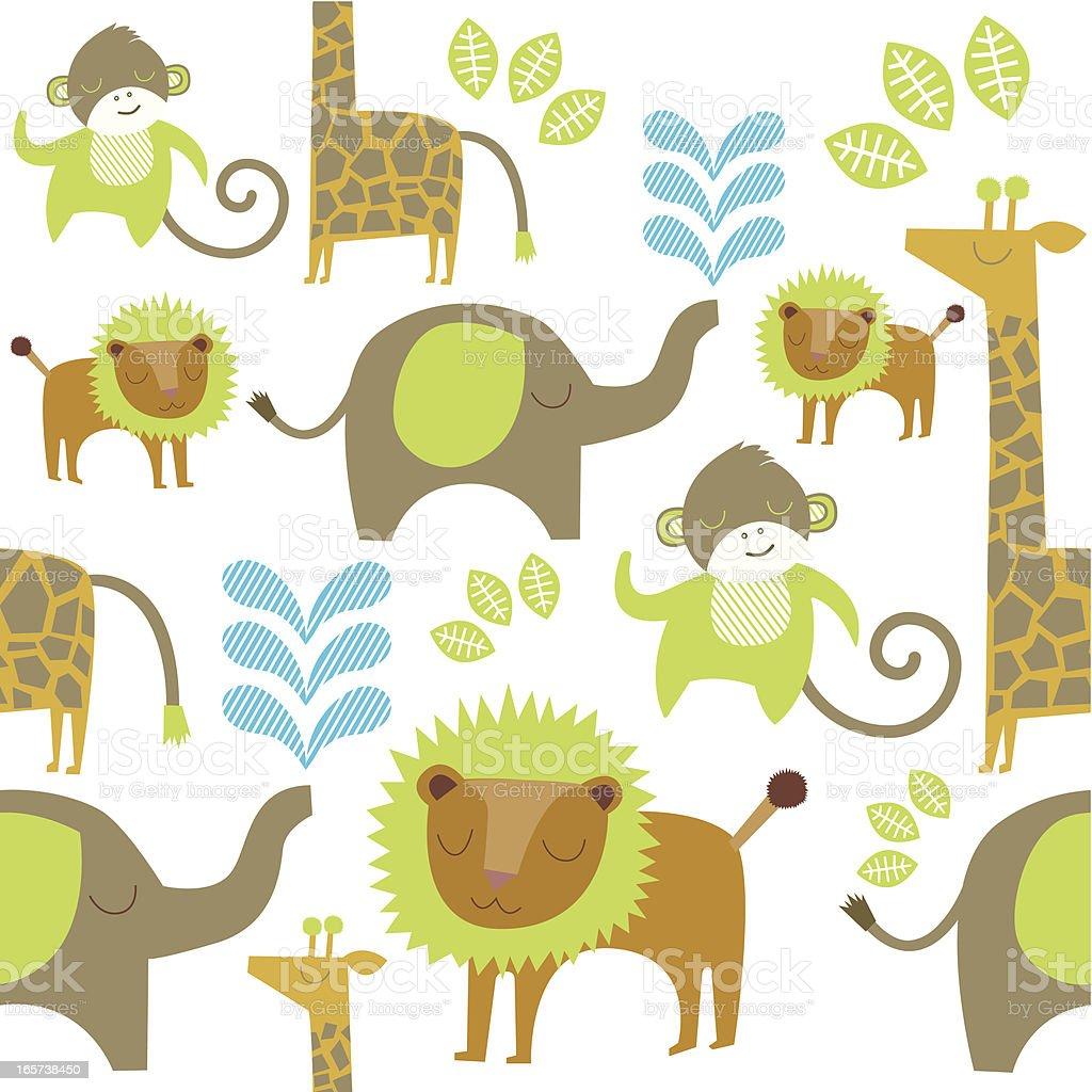 Safari repeating pattern royalty-free safari repeating pattern stock vector art & more images of animal markings