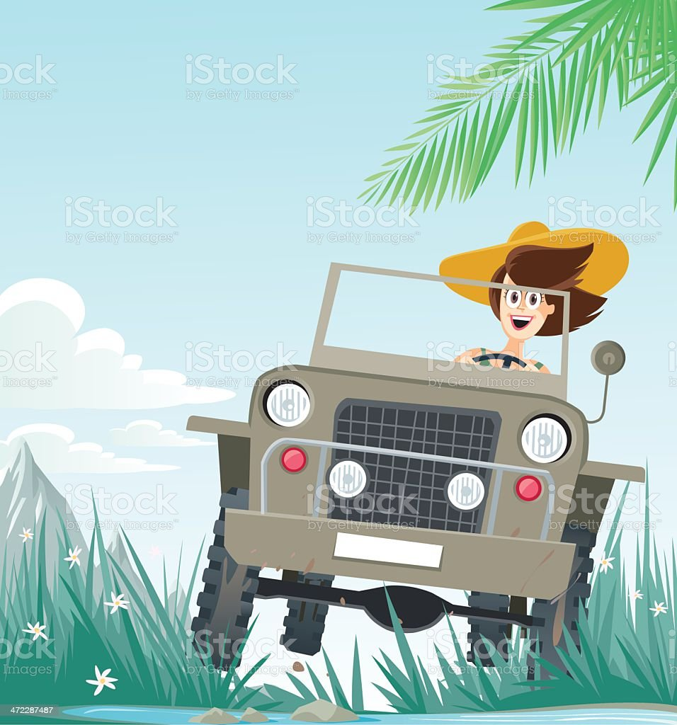 safari vector art illustration