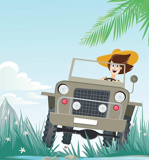 safari vector art illustration
