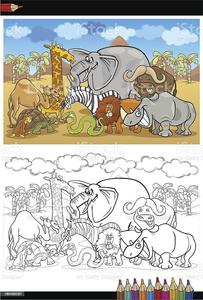 Ilustración de Safari Salvaje Animales De Dibujos Animados De Libro ...