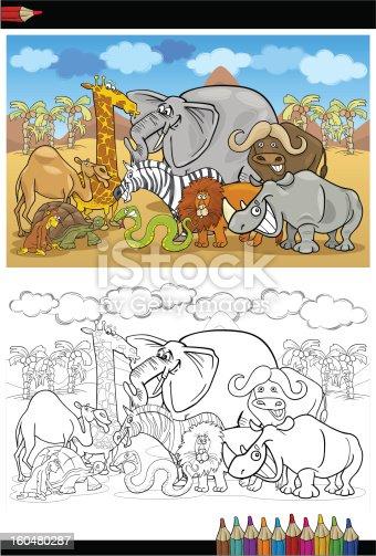 istock Colorear libro de la risa monos en lians. Alfabeto M 522869747 ...