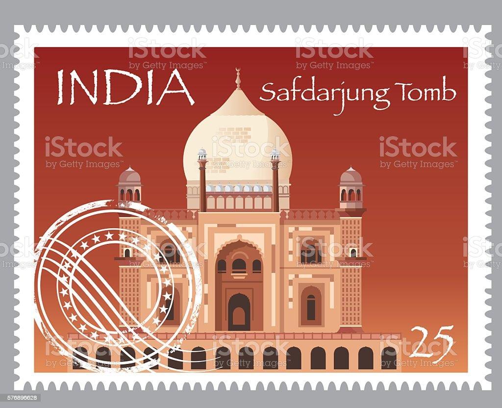 Safdarjung's Tomb vector art illustration