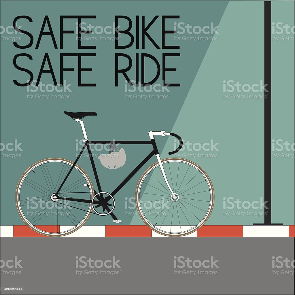 Safe Bike and Ride royalty-free stock vector art
