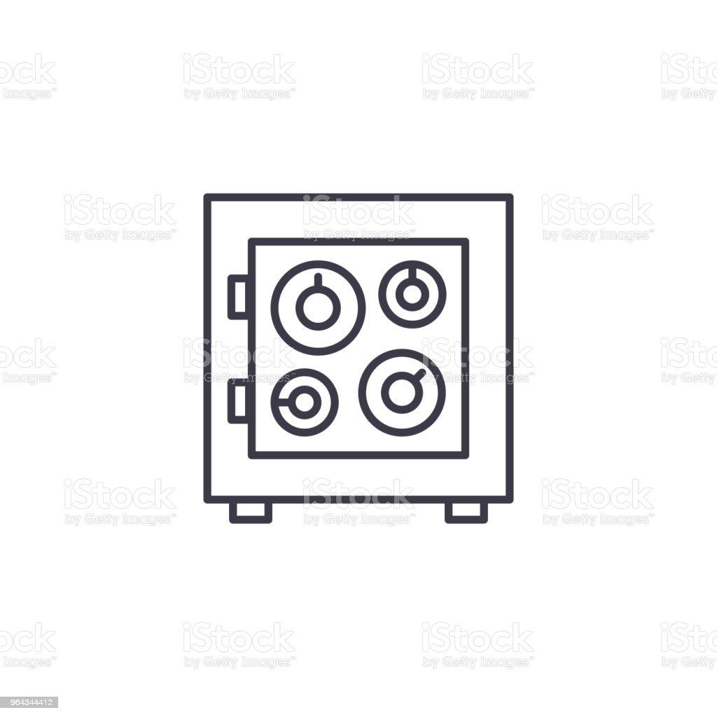 セーフ ボックス線形アイコン コンセプトセーフティ ボックスの行