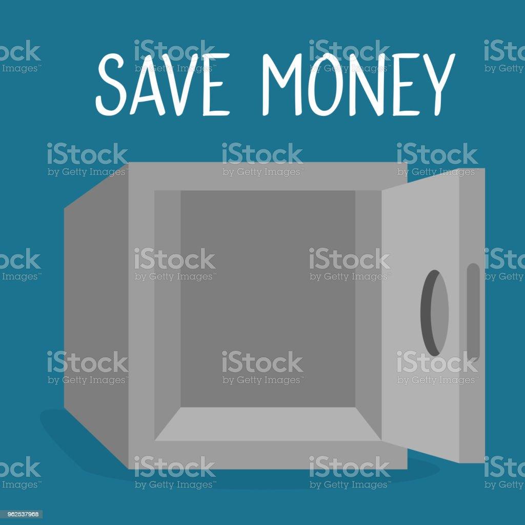 dinheiro do cofre salvar ícone - Vetor de Antiguidades royalty-free
