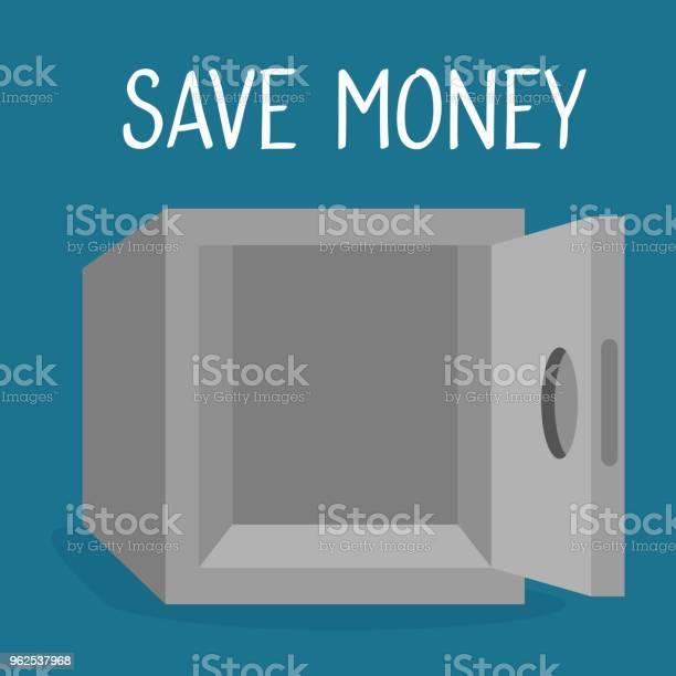 Vetores de Dinheiro Do Cofre Salvar Ícone e mais imagens de Antiguidades