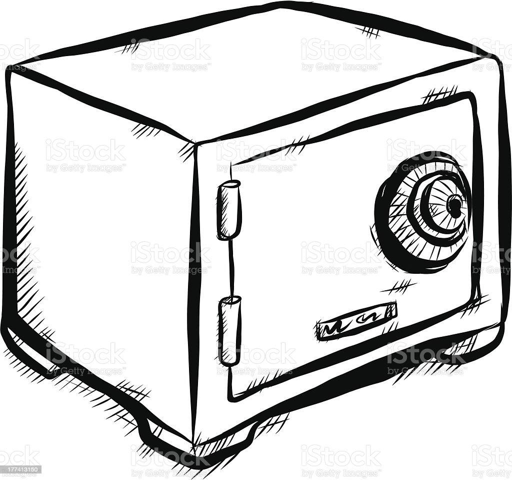 Safe box royalty-free stock vector art