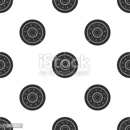 Safe combination lock wheel icon isolated seamless pattern on white background. Protection concept. Password sign. Flat design. Vector Illustration