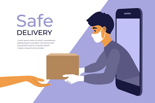 Safe delivery service concept